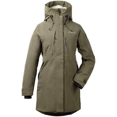 Didriksons Silje 2 Womens Padded Parka | Crocodile Green