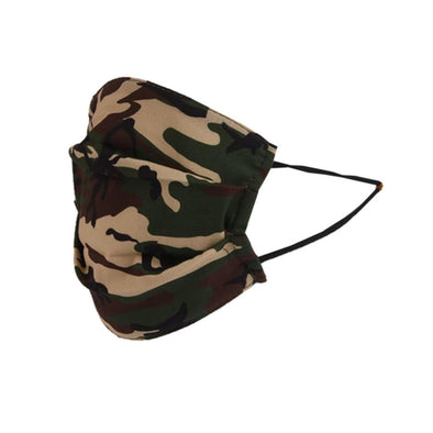 Reusable Pleated  Cotton Face Mask | Camo