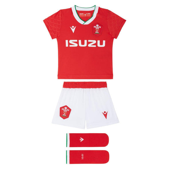Macron Wales Rugby Baby Home Replica Mini Kit | Red | 2020/21