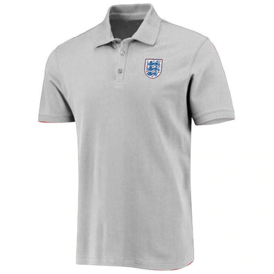 England Football Men's Small Crest Polo Shirt | Grey