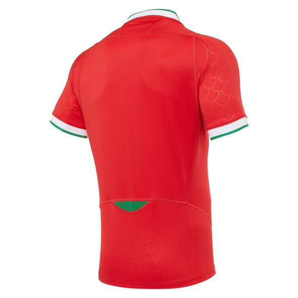 Macron Wales Rugby Mens Home Replica Shirt | Red | 2020/21