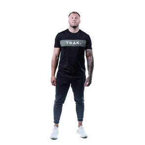 Trak Athletic Carbon Print T-Shirt | Black