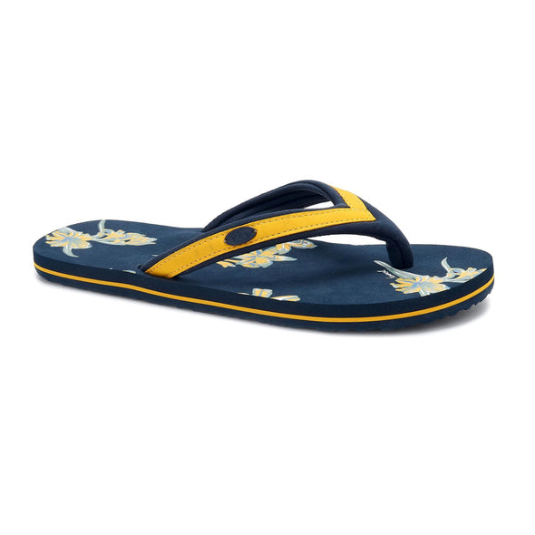 Animal Womens Swish Slim AOP Flip Flops | India Ink Blue