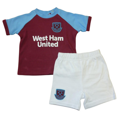 West Ham United Baby/Toddler Kit T-Shirt & Shorts Set | 2020/21