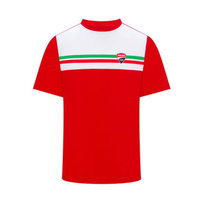 Ducati Corse Mens Tricolour T-Shirt | Red | 2019