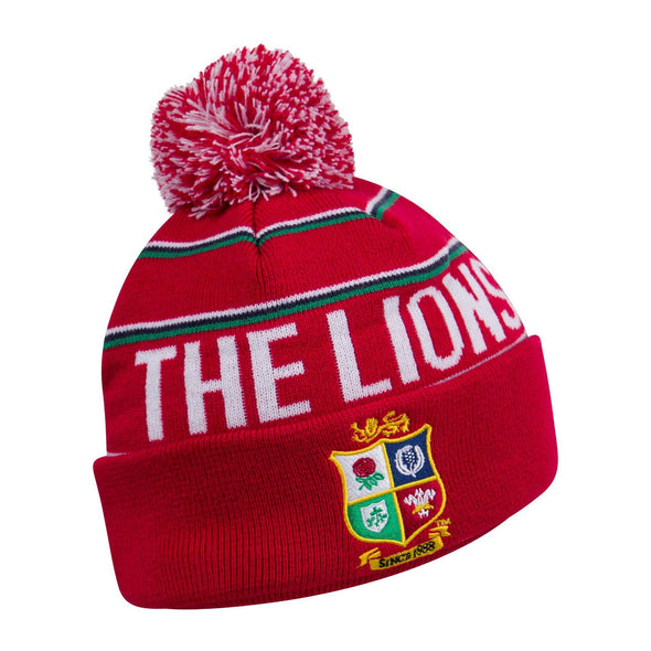Canterbury British & Irish Lions Rugby Bobble Hat | Tango Red | 2021 | Adult