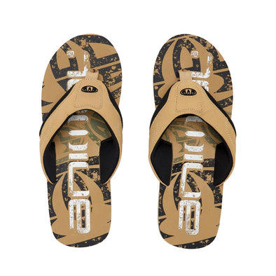 Animal Mens Jekyl Logo Flip Flops | Starfish Beige