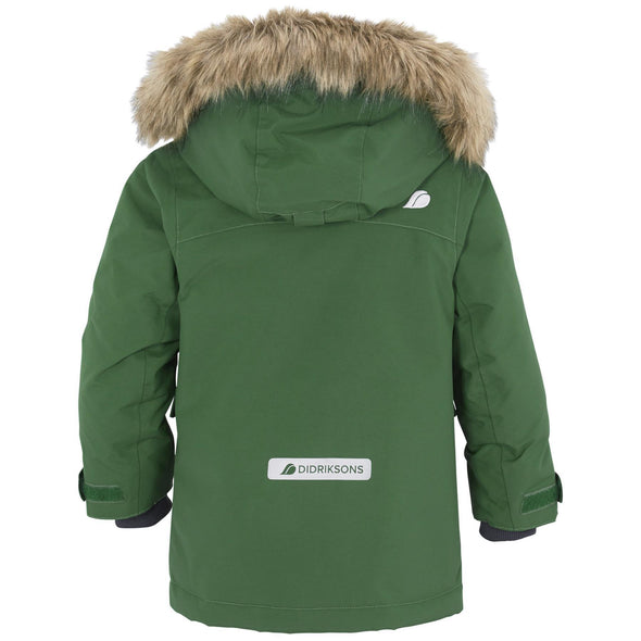 Didriksons Kure Kids Parka Jacket | Leaf Green
