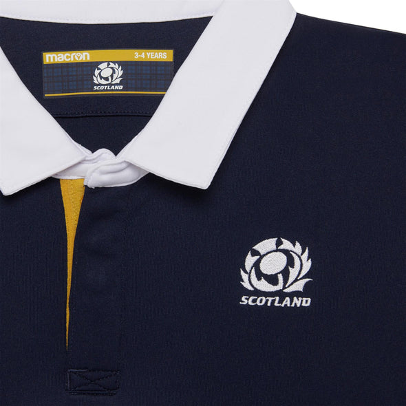 Macron Scotland Rugby Kids Home Replica Shirt | Navy | 2020/21