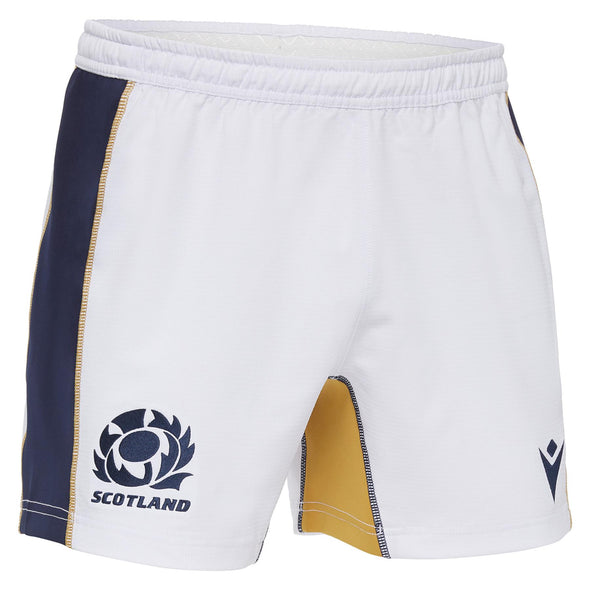 Macron Scotland Rugby Mens Home Replica Shorts | White | 2020/21