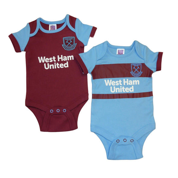 West Ham United Baby Kit 2 Pack Bodysuits | 2020/21