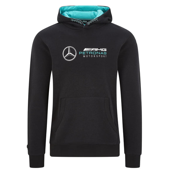 Mercedes AMG Petronas Men's Logo Hooded Sweat | Black | 2020