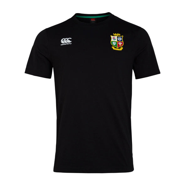 Canterbury British & Irish Lions Rugby Cotton Jersey Tee | Mens | Black