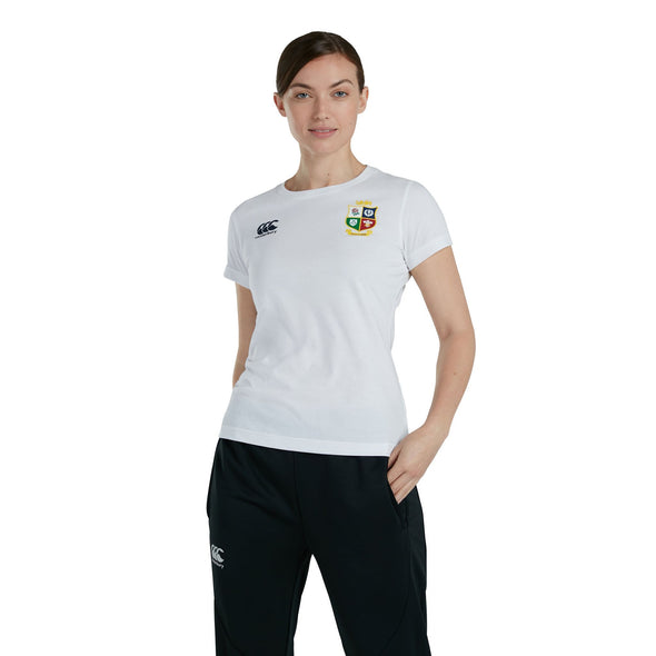 Canterbury British & Irish Lions Rugby Cotton Jersey Tee | Womens | White | 2021