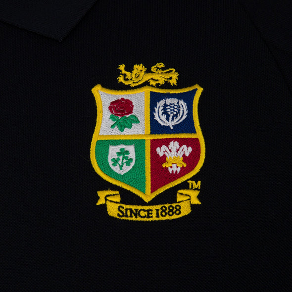 Canterbury British & Irish Lions Rugby Pique Polo | Mens | Black | 2021