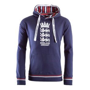 ECB England Cricket Mens Over Head Hoodie | Navy | 2019