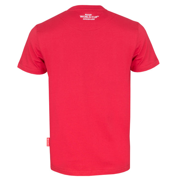 Rugby World Cup 2019 Mens Small Logo T-Shirt | Red