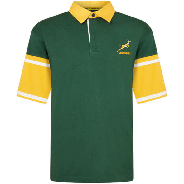 South Africa Rugby Springboks Men's Short Sleeved Rugby Shirt | Green | 2019/20 Season