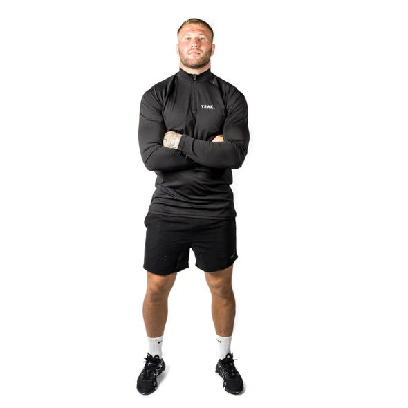 Trak Athletic Quarter Zip Training Top | Black