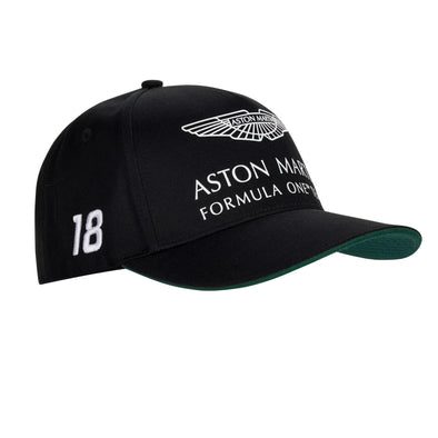 Aston Martin F1 Team Baseball Cap | Lance Stroll | Adult | Black | 2021