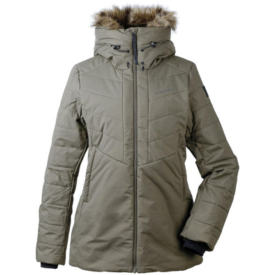 Didriksons Nana Womens Padded Insulated Jacket | Crocodile Green