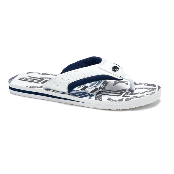 Animal Mens Jekyl Logo Flip Flops | White/Black