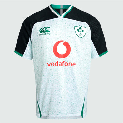 Canterbury Ireland IRFU Rugby Alternate Pro Shirt | White/Bosphorus Marl | 2019 | Adult