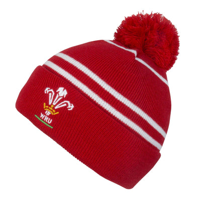 Wales WRU Rugby Bobble Beanie Hat | One Size