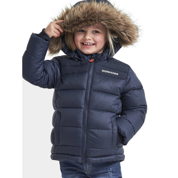 Didriksons Digory Kids Puffa Jacket | Navy