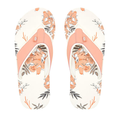 Animal Womens Swish AOP Flip Flops | Coconut Cream