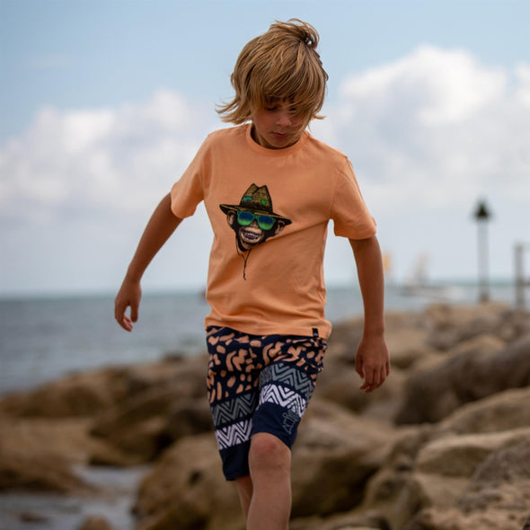 Animal Kids Hang Loose T-shirt | Coral Sands Orange