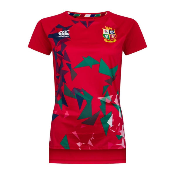Canterbury British & Irish Lions Rugby Superlight Graphic Tee | Womens | Tango Red | 2021