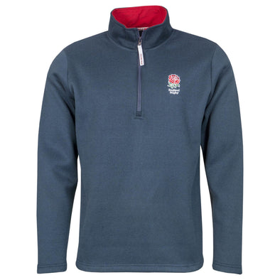 England RFU Rugby Kids Zip Neck Jersey Knit | Navy
