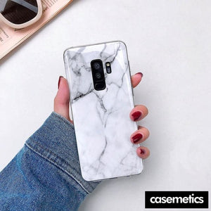 Bling Marble Samsung Case (Limited Edition) White Marble / For Galaxy S10