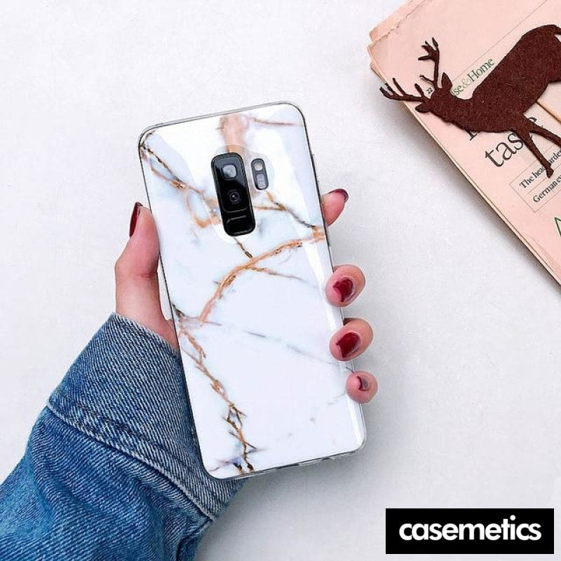 Bling Marble Samsung Case (Limited Edition) White / For Galaxy S10