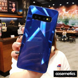 Diamond Texture Case For Samsung Blue / S10