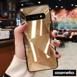 Diamond Texture Case For Samsung Gold / S10