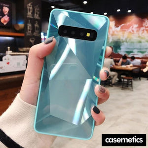 Diamond Texture Case For Samsung Lake Blue / S10