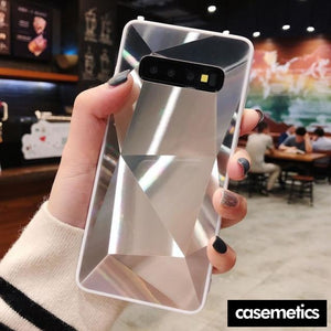 Diamond Texture Case For Samsung Silver / S10