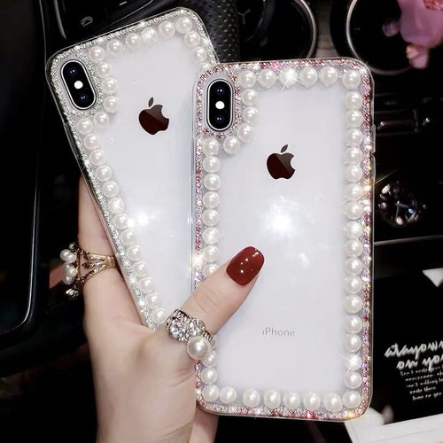 Luxury Glitter Pearl Case