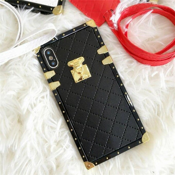 Luxury Leather Square Case