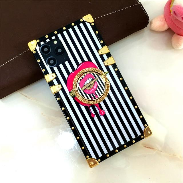 Luxury Square Phone Case For Samsung.