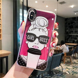 Premium Girl Boss Glow In The Dark iPhone Case