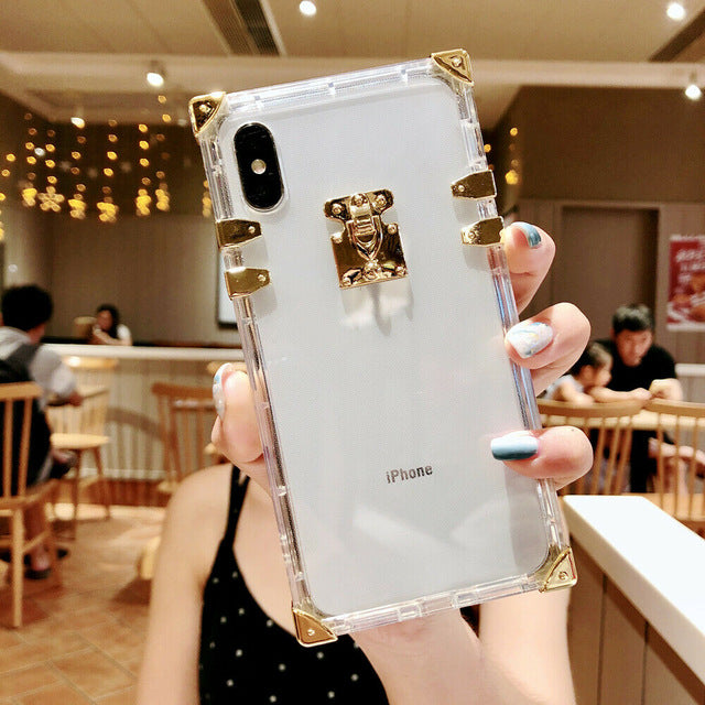 Premium Square Soft Transparent Case