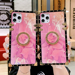 Luxury Square Pink Texture Case