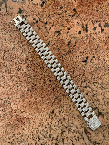 Real Solid 925 Sterling Silver 20mm Watch Band Bracelet