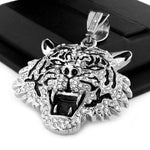 ICED OUT TIGER PENDANT & DIAMOND CUT CUBAN LINK CHAIN