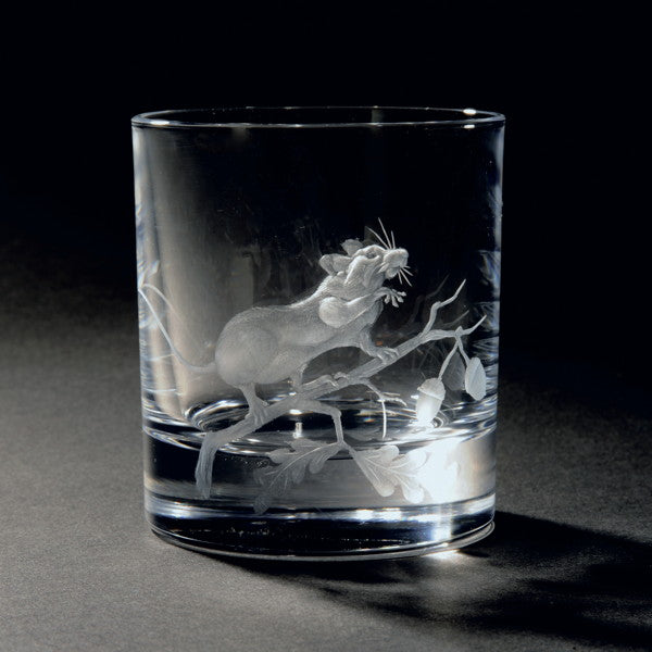 Autumn Harvest Hand Engraved Whisky Glass