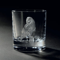 Ghost of the Hedgerow Hand Engraved Whisky Glass