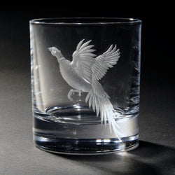 Rising from the Rough Hand Engraved Whisky Glass
